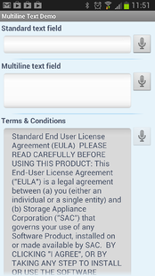 Device Magic multiline text field on Android 2013