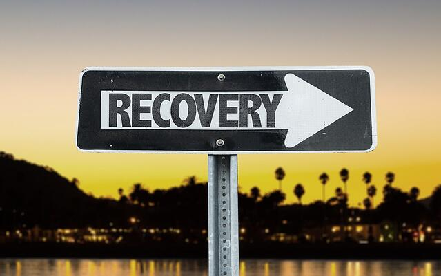 Recovery direction sign with sunset background.jpeg